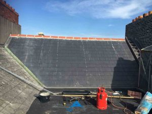 Roof Repaired With New Tiles