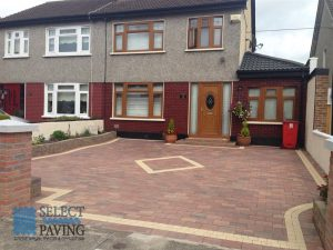 Driveway Installation With Paving Pattern